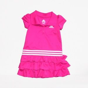Adidas Pink and White Polo Tennis Dress 2T